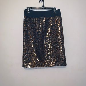 The Limited Black and Metallic Skirt- Sz 6